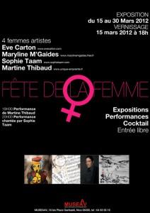 Affiche Fête de la Femme MUSEAAV 2012