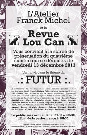 Affiche lancement revue Lou Can n°4
