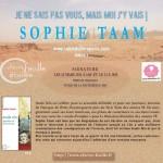 Invitation signature Anaïs Nin sophie taam salon du livre de Paris