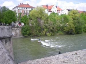 surfeurs sur l'Isar, Munich